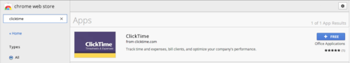 Search for ClickTime in the Chrome Web Store